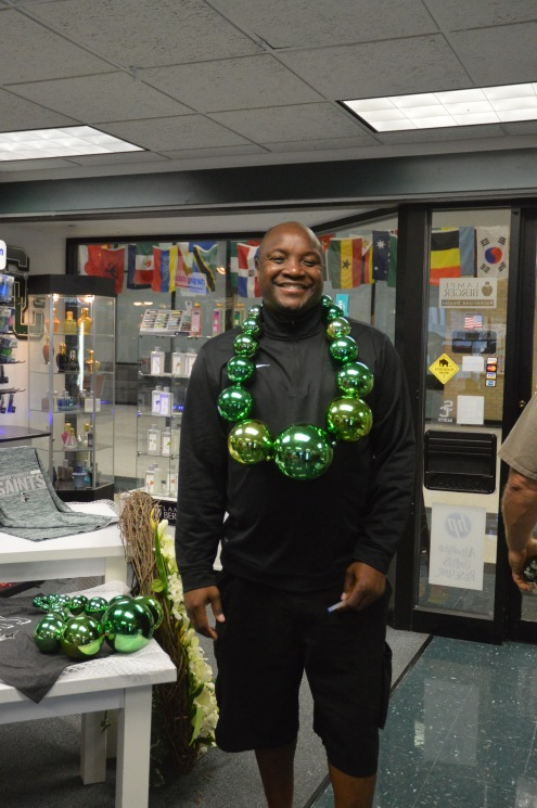 Carlo with GIANT beads