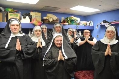 Nuns rehearse