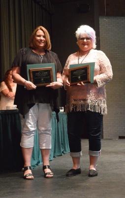 Fifteen-year award winners, from left: Sheila Scheib, Denice Paden.