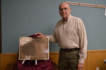 Bob with plaque