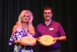 SCCC instructors Katy Redd and Butch Garst (not pictured) and Dean of Instruction Luke Dowell were recognized for 20 years of service at the college at the May 14 awards ceremony.