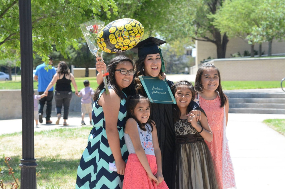 GED Graduate and daughters