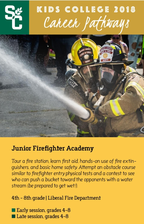 Kids College Junior Firefighters