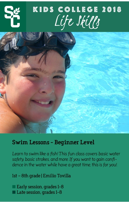 Kids College Swim Lessons
